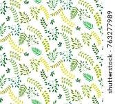 Seamless Leaf Pattern. Small...