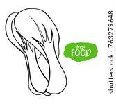 vector illustration of broccoli