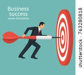 successful businessman hold... | Shutterstock .eps vector #763280818