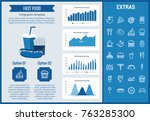 fast food infographic template  ... | Shutterstock .eps vector #763285300