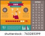 startup infographic template ... | Shutterstock .eps vector #763285399