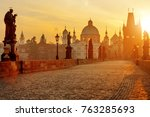 Charles Bridge Scenic View At...