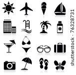summer icons | Shutterstock .eps vector #76328731