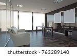 modern office cabinet. meeting... | Shutterstock . vector #763289140