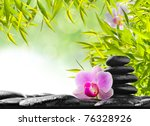 Spa Concept With Zen Stones An...