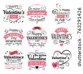 valentines day typography ...