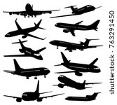 flight aviation vector icons.... | Shutterstock .eps vector #763291450