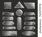 Glass Plates Isolated Icon Set...