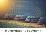 commercial concentrating solar... | Shutterstock . vector #763298944