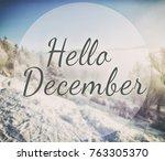 blurry  winter park on... | Shutterstock . vector #763305370