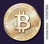 bitcoin crypto currency vector | Shutterstock .eps vector #763307866