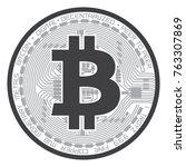 bitcoin crypto currency vector | Shutterstock .eps vector #763307869