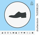 men's shoe icon. menu item in... | Shutterstock .eps vector #763308124