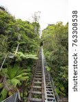 steepest railway in the world... | Shutterstock . vector #763308538