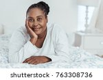 content young african woman... | Shutterstock . vector #763308736