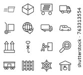 thin line icon set   delivery ... | Shutterstock .eps vector #763313554
