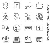 thin line icon set   dollar ... | Shutterstock .eps vector #763313599