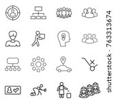 thin line icon set   target... | Shutterstock .eps vector #763313674