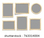 vintage photo frames isolated.... | Shutterstock .eps vector #763314004