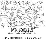 set of data illustration hand... | Shutterstock .eps vector #763314724