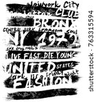 vintage slogan man t shirt... | Shutterstock .eps vector #763315594