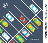 city element top view poster of ... | Shutterstock . vector #763317820