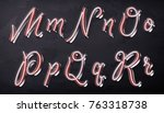 3d render of calligraphic... | Shutterstock . vector #763318738