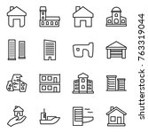 thin line icon set   home ... | Shutterstock .eps vector #763319044