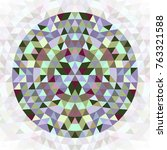 round geometrical triangle...   Shutterstock .eps vector #763321588