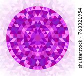 round abstract geometrical... | Shutterstock .eps vector #763321954