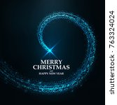 abstract winter christmas... | Shutterstock .eps vector #763324024