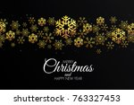 christmas colorful greeting... | Shutterstock .eps vector #763327453