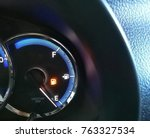 alarm light  low fuel gasoline... | Shutterstock . vector #763327534