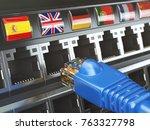 e learning  translate foreign...   Shutterstock . vector #763327798