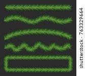 pine tree decorations | Shutterstock .eps vector #763329664