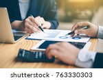 business analysis and strategy | Shutterstock . vector #763330303