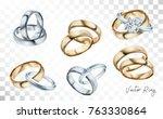 Wedding Rings Set Of Silver ...