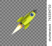 rocket  icon. vector... | Shutterstock .eps vector #763334710