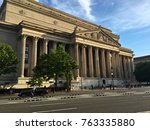 Small photo of National Archives and Records Administration, Washington, D.C., U.S. - 13 June 2016: Capture of the front look of the NARA building.
