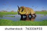 Triceratops Horridus Dinosaur...