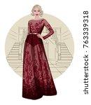 stylish vector illustration of... | Shutterstock .eps vector #763339318
