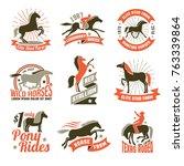 elite stud farms for horses... | Shutterstock . vector #763339864