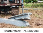 i shape concrete pile for... | Shutterstock . vector #763339903