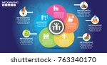 infographic design vector and ... | Shutterstock .eps vector #763340170