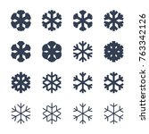snowflakes signs set. black... | Shutterstock .eps vector #763342126