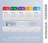 infographics design and... | Shutterstock .eps vector #763343608