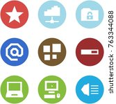 origami corner style icon set   ... | Shutterstock .eps vector #763344088