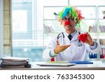 child cardiologist with... | Shutterstock . vector #763345300