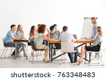 group of people with business... | Shutterstock . vector #763348483