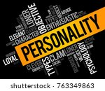 personality word cloud collage  ... | Shutterstock .eps vector #763349863